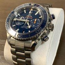 Omega Seamaster Planet Ocean Chronograph gebraucht 45.5mm Blau Chronograph Datum Titan