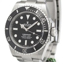 Rolex Submariner (No Date) Сталь 41mm Черный Без цифр