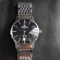 Hamilton Intra-Matic pre-owned 38mm Black Date Steel