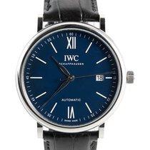 IWC Portofino Automatic Сталь 40mm Синий Римские