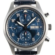 IWC Pilot Chronograph Steel 42mm Blue Arabic numerals