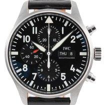 IWC Pilot Chronograph Steel 43mm Black Arabic numerals United Kingdom, London