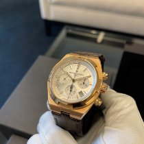 Vacheron Constantin Rose gold Automatic Silver No numerals 42.5mm pre-owned Overseas Chronograph