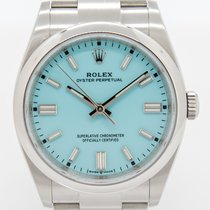 Rolex Oyster Perpetual 36 Acero 36mm Azul Sin cifras