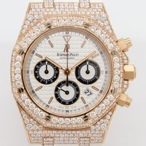 Audemars Piguet Red gold Automatic White No numerals 39mm pre-owned Royal Oak Chronograph