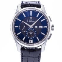 Zenith El Primero Winsor Annual Calendar pre-owned 42mm Blue Date Leather
