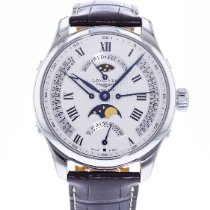 Longines Master Collection pre-owned 44mm Silver Leather