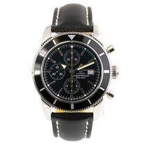 Breitling Superocean Heritage Chronograph Stahl 46mm Schwarz Keine Ziffern
