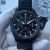 万国 Pilot Chronograph Top Gun 陶瓷 46mm 黑色 阿拉伯数字