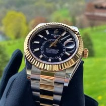 Rolex Sky-Dweller Gold/Steel 42mm Black No numerals United States of America, Pennsylvania, Douglassville