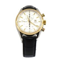 TAG Heuer Carrera Calibre 1887 Gold/Steel 41mm Silver No numerals United States of America, New York, New York
