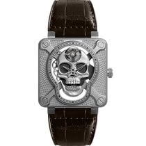 Bell & Ross BR 01 new 2018 Manual winding Watch with original box and original papers BR01-SKULL-SK-ST