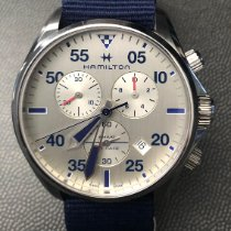 Hamilton Khaki Pilot Steel 44mm Silver Arabic numerals United States of America, New Jersey, Ewing