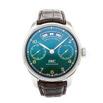 IWC Portuguese Annual Calendar Steel 44.2mm Green Arabic numerals United States of America, Pennsylvania, Bala Cynwyd