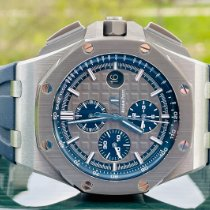 Audemars Piguet Titanium Automatic Grey No numerals 44mm pre-owned Royal Oak Offshore Chronograph