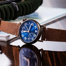 Longines Bronze Automatic Blue Arabic numerals 41mm new Avigation