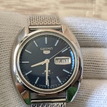 Seiko 5 Steel 38mm Blue No numerals Indonesia, Bandung