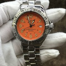 Breitling Steel Automatic Orange Arabic numerals 41mm pre-owned Superocean