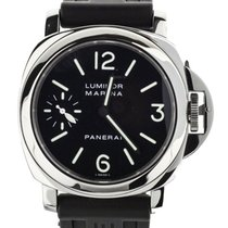 Panerai Luminor Marina begagnad 44mm Svart Naturgummi