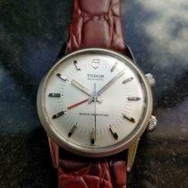 Tudor Heritage Advisor pre-owned 35mm Alarm Leather