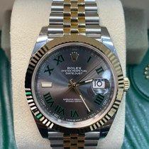 Rolex Datejust Gold/Steel 41mm Black No numerals UAE, Dubai