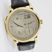 A. Lange & Söhne Gelbgold Handaufzug Silber 38.5mm gebraucht Lange 1