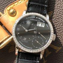 A. Lange & Söhne Little Lange 1 pre-owned 36mm Black Crocodile skin