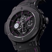 Hublot Big Bang Aero Bang Tytan 45mm Czarny Bez cyfr