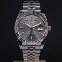 Rolex Datejust White gold 41mm Grey No numerals