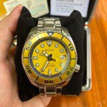 Seiko Prospex Steel 44mm Yellow No numerals Thailand, Thanyaburi