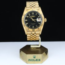 Rolex Yellow gold Automatic Black pre-owned Datejust Turn-O-Graph
