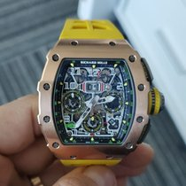 Richard Mille RM 011 Rose gold 49.9mm Transparent Arabic numerals