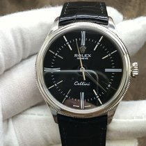 Rolex Cellini Time Ouro branco 39mm Preto