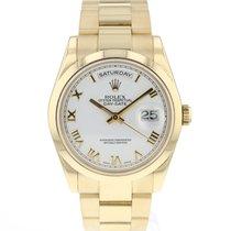 Rolex Day-Date 36 Oro amarillo 36mm Blanco Romanos