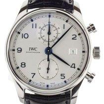 IWC Portuguese Chronograph Stål 42mm Silver