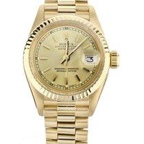 Rolex Lady-Datejust Желтое золото 26mm Цвета шампань