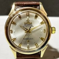 Omega Constellation pre-owned 35mm Silver Leather