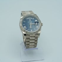 Rolex Day-Date 40 Or blanc 40mm Bleu Romains France, Uzes