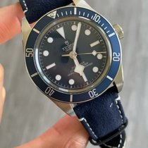 Tudor Steel Automatic Blue No numerals 39mm pre-owned Black Bay Fifty-Eight