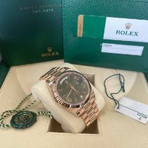 Rolex Day-Date 40 Rose gold 40mm Green Roman numerals United States of America, New Jersey, Totowa