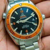 Omega Stål Automatisk Svart Arabiska 45.5mm begagnad Seamaster Planet Ocean