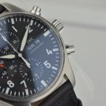IWC Pilot Chronograph Stal 43mm Czarny Arabskie Polska, Warszawa