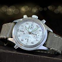 IWC Fliegeruhr Doppelchronograph Stahl 42mm Silber Arabisch Deutschland, Bous