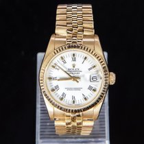 Rolex Datejust occasion 31mm Blanc Date Or jaune