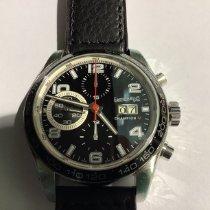 Eberhard & Co. Champion V Steel 42mm Black Arabic numerals