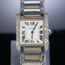 Cartier pre-owned Quartz 25mm White Sapphire crystal