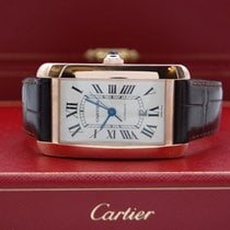 Cartier Tank Américaine nieuw 2008 Automatisch Horloge met originele doos en originele papieren 2927