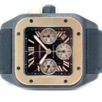 Cartier Titan Automatik Schwarz Römisch 41mm gebraucht Santos 100