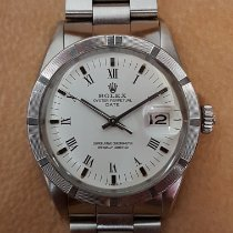 Rolex Oyster Perpetual Date Acier 34mm Blanc Romains
