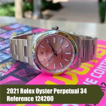 Rolex Oyster Perpetual 34 Steel 34mm Pink No numerals United States of America, Florida, Coral Gables